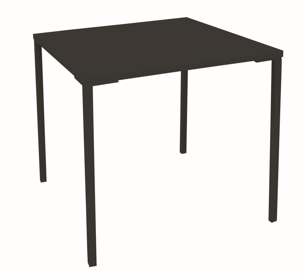 Simply Laminated H100, Stackable table with laminate top, metal base