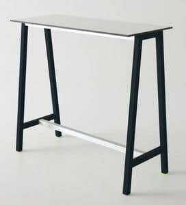 Step, High table in metal and polymer, for bars