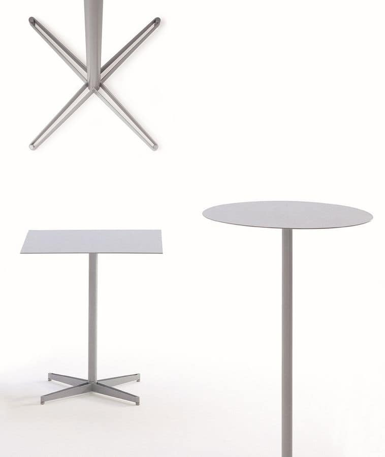 Tea table, Cafe table in metal, for outdoor use