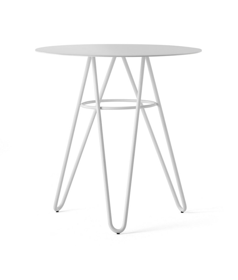 ART. 0125-R SELF TABLE, Metal table with round top