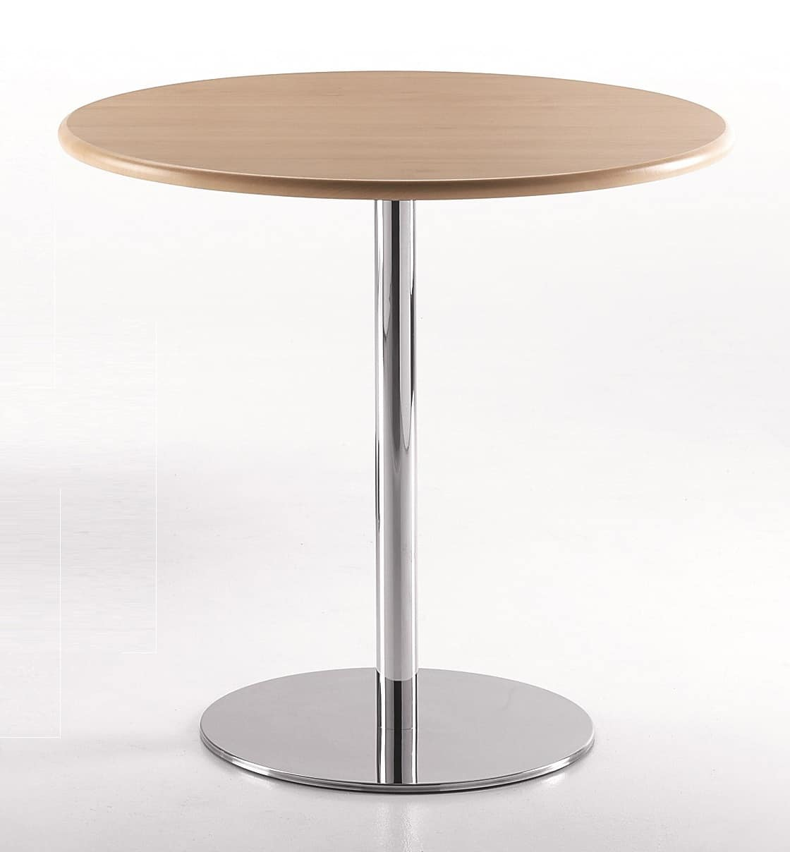 BASIC 856, Round table with chrome metal base