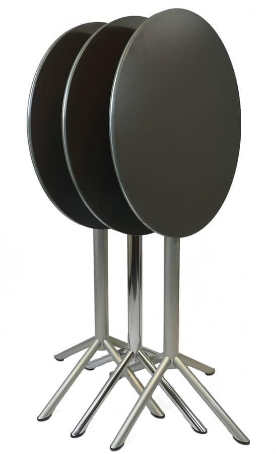 Cocktail - Fold, Folding top table suitable for outdoors, high table with round top suitable for bars