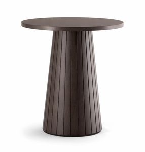 CORDOBA TABLE 082 H75 T, Round wooden table
