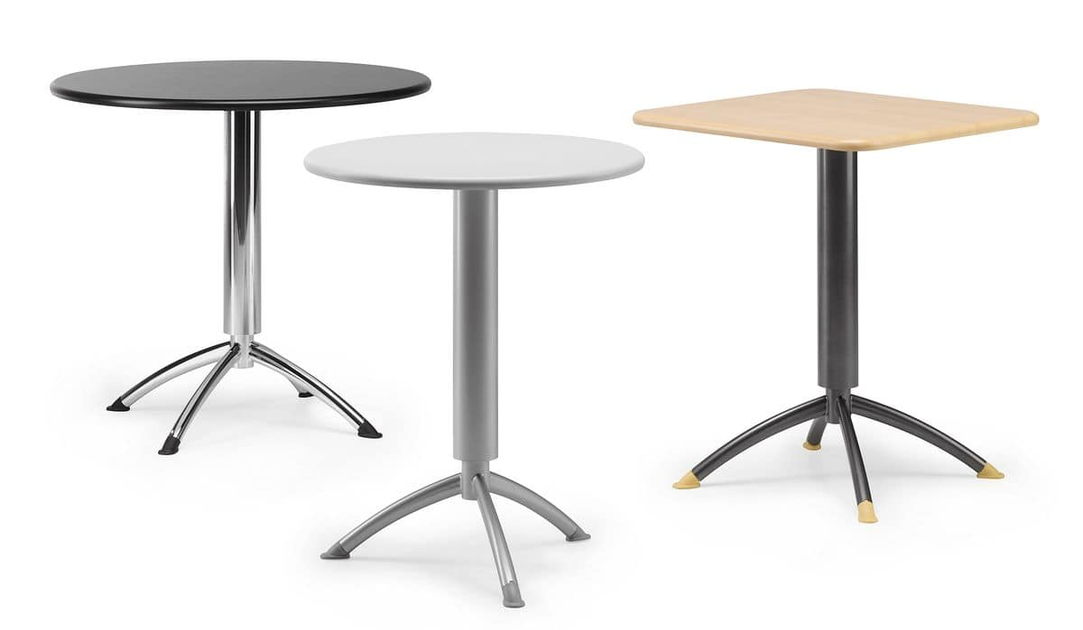 KOMBY 940, Bar table with metal base, round top