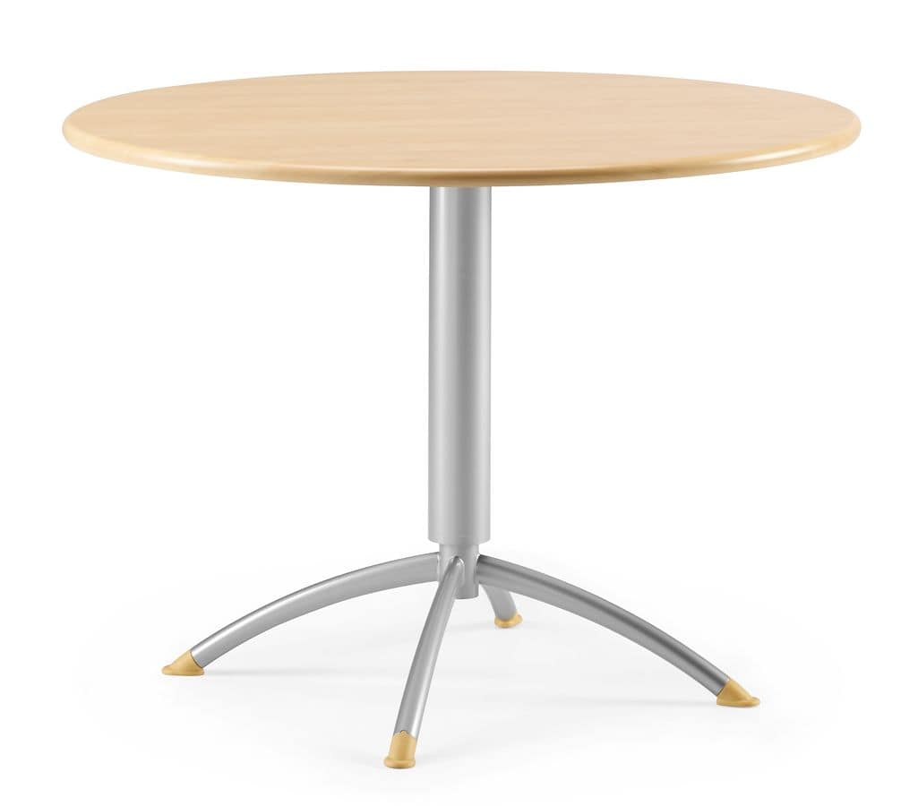 KOMBY 946, Small round table in metal and laminate, for bars