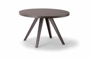 MILANO TABLE 083 H44 T, Round wooden side table