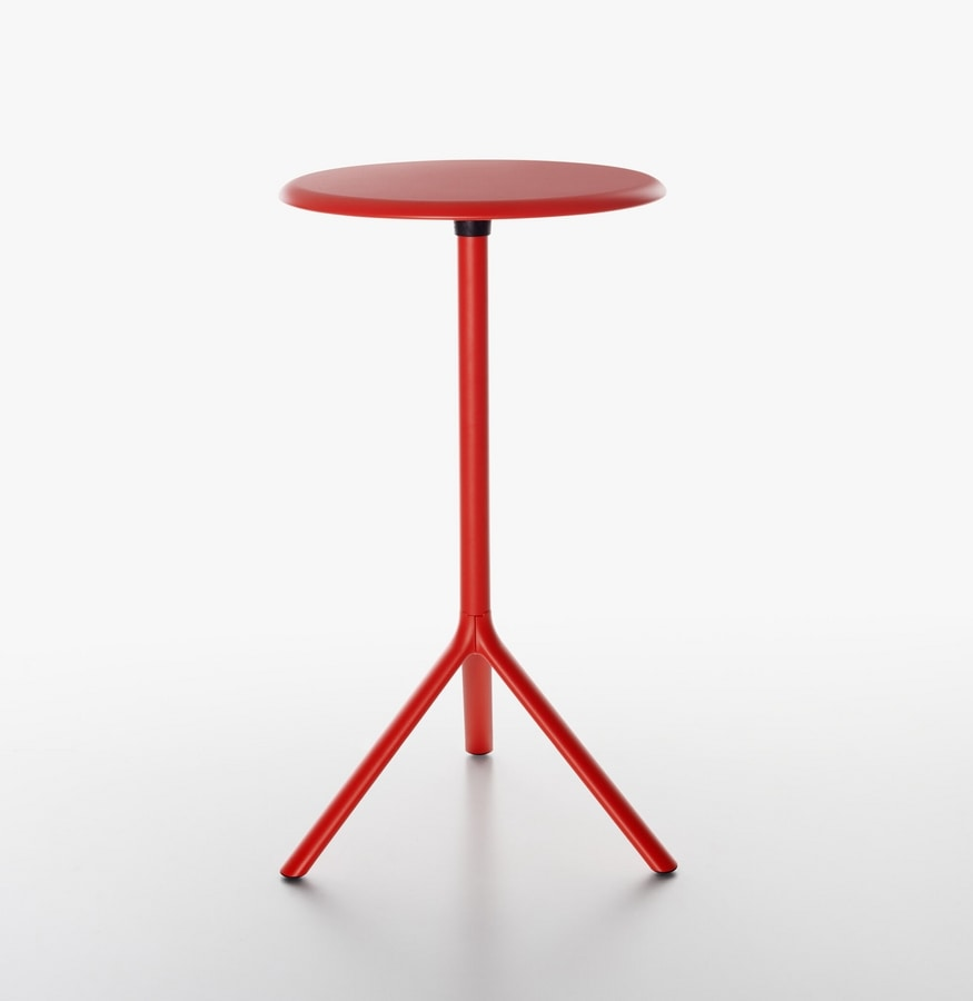 Miura | High Bar table, Folding table in steel, laminate top, for bars