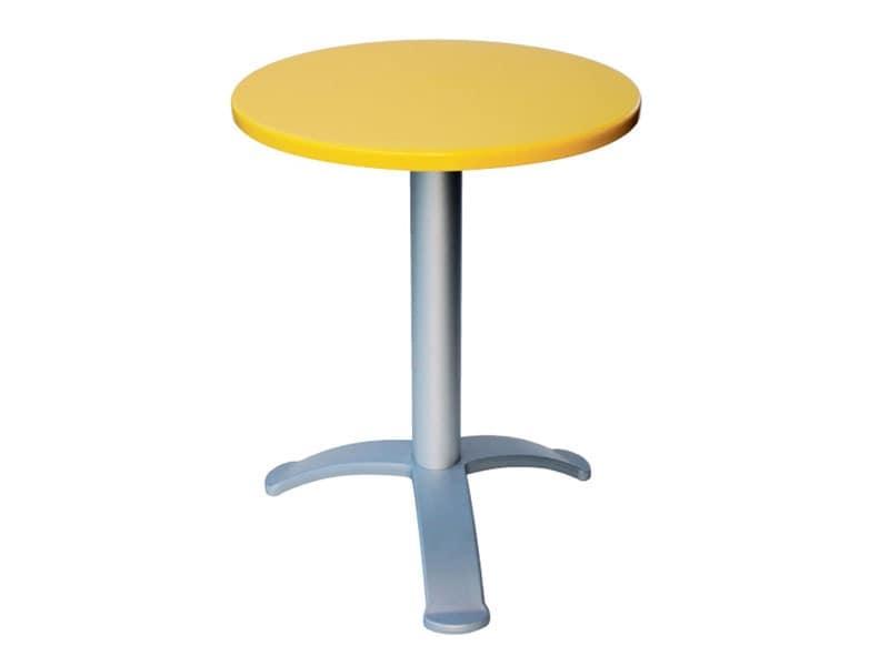 Table Ø 60 cod. 04/BG3, Modern coffee bar table, for outdoor cafes