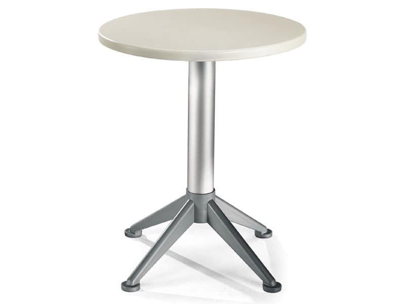 Table Ø 60 cod. 04/BG4A, Contemporary side table with 4 feet base