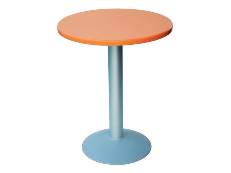 Table Ø 60 cod. 04/BT, Small round table with round base in aluminum