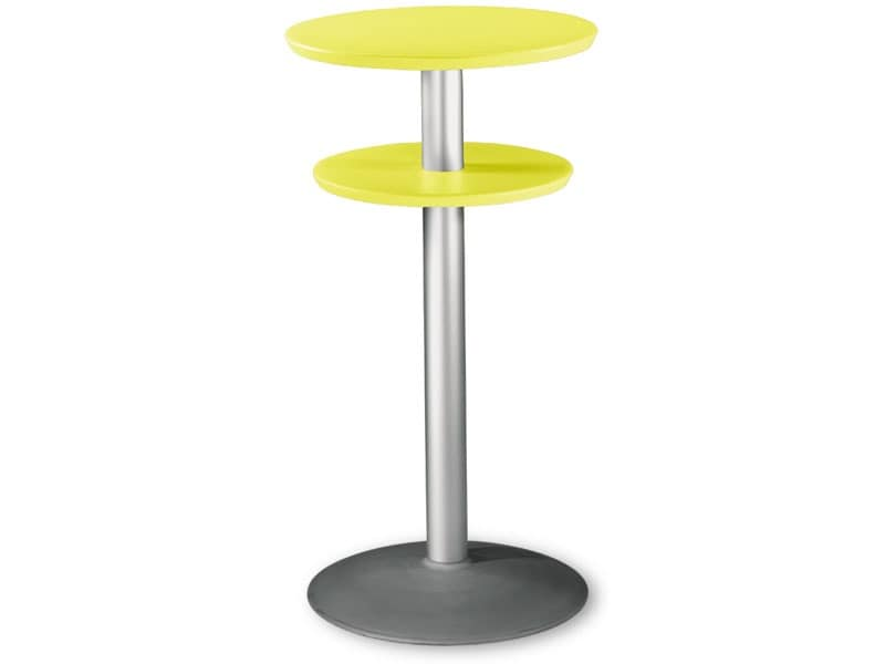Table Ø 60 h 110 cod. 08/DPBT54, High table with double top in polypropylene