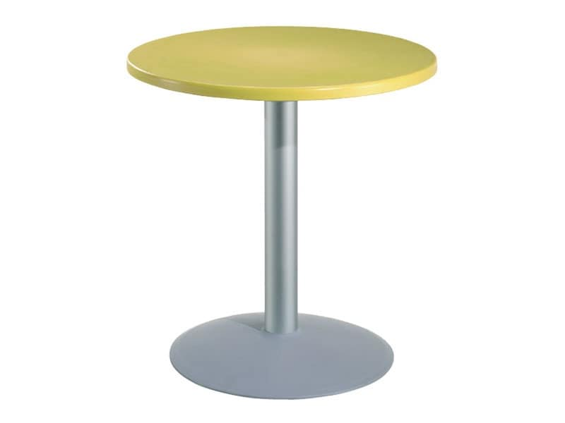 Table Ø 72 cod. 03/BT54, Round table for bars with polymer top