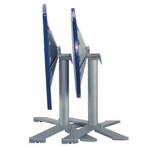 Table 80x80 cod. 23/BG4IP, Folding round table, polymer top