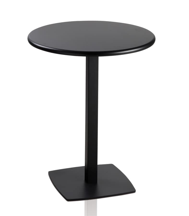 TOTEM 411, Round table with metal base for bars and restaurants