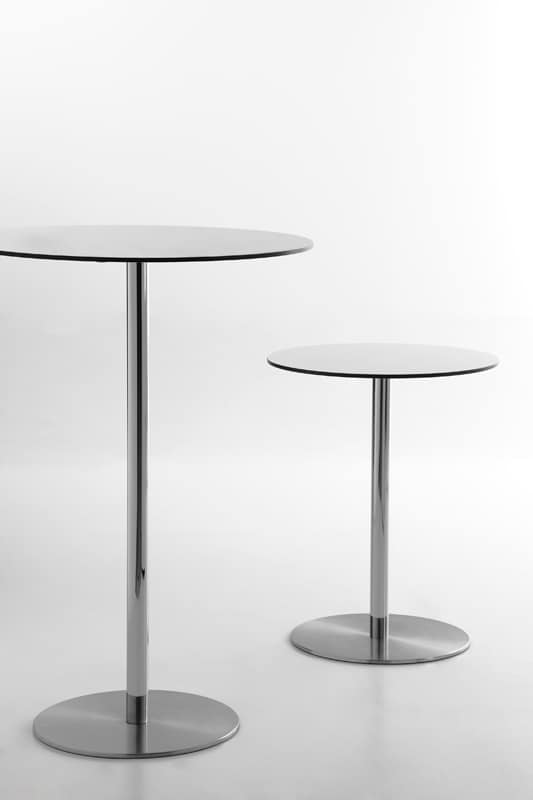 Voilà round h110, Cocktail table, round top in HPL laminate, suitable for pub and bar fashion