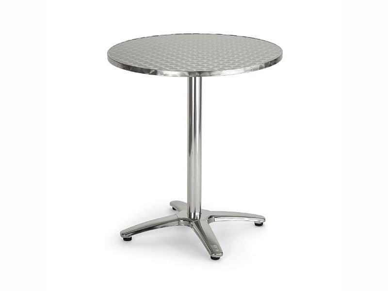 086, Round table in metal for bars and restaurants