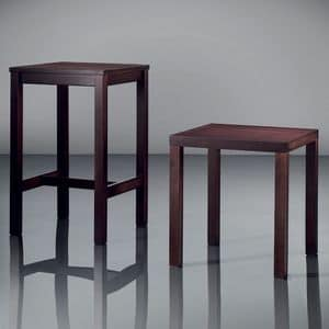 ART. 263 FAST FOOD, Elegant small tables, in wood, for hotel