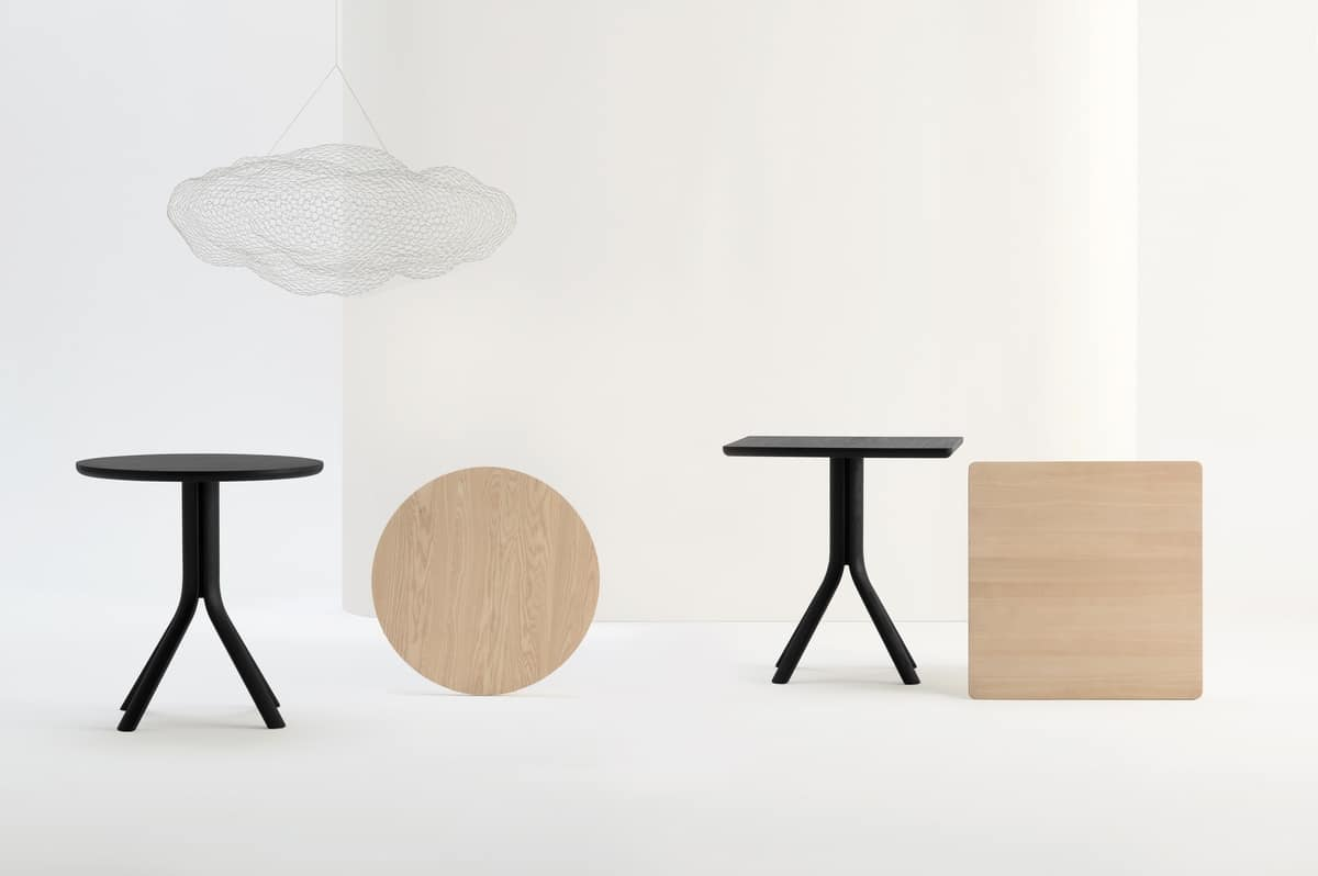 ART. 480 PECK, Solid wood table for restaurant and bar