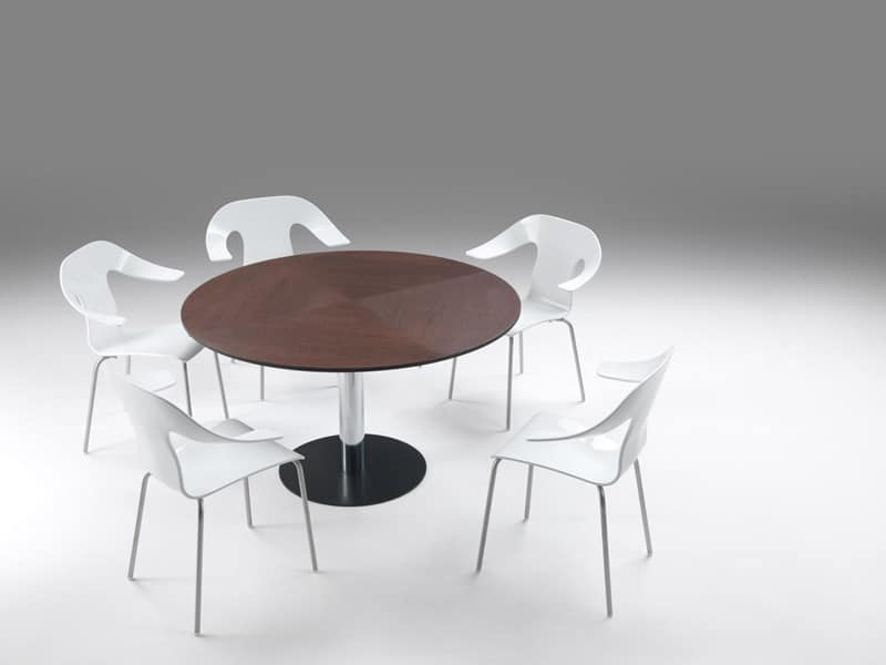 Frisbee 2, Extendable table, transformable from square to round shape