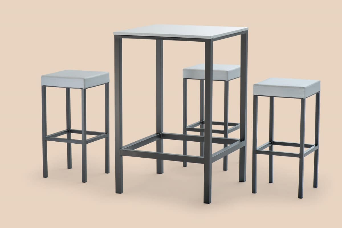 FT 044 / H110, High table in painted metal, with non-slip feet