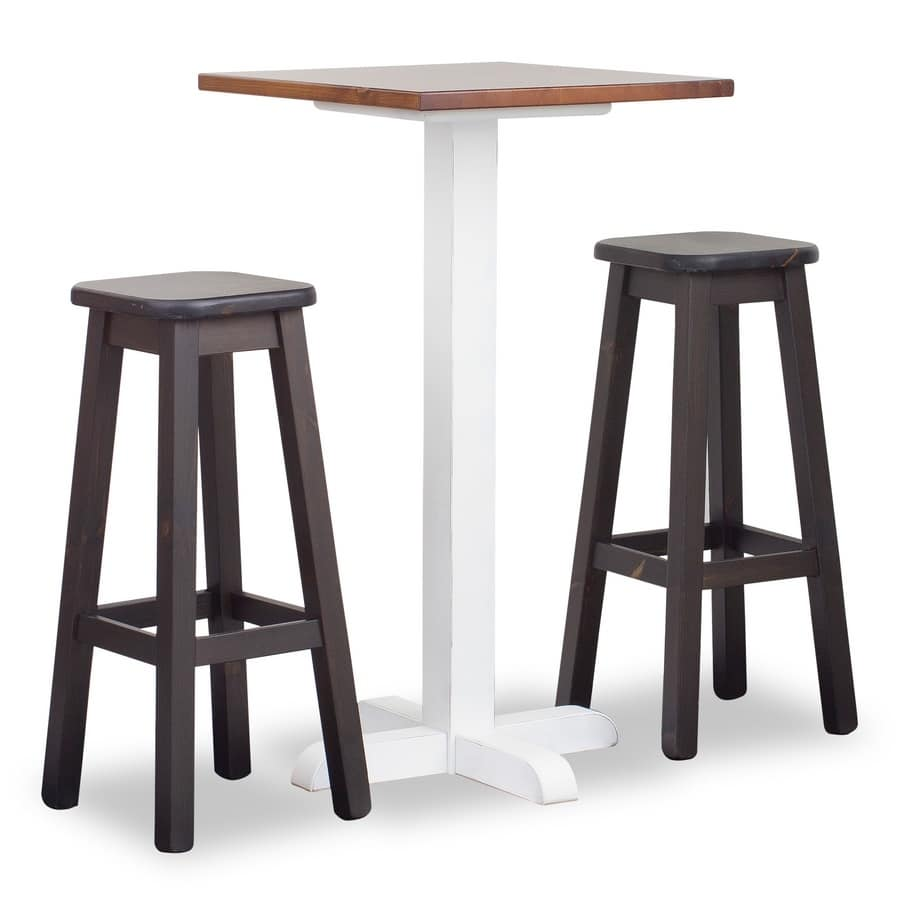 Hgh Tower Bar Table 1, High table for bars and taverns, in pinewood