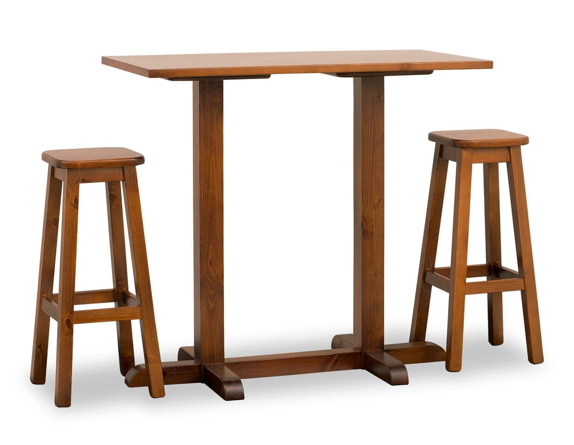 Bar Table With Two Columns Entirely In