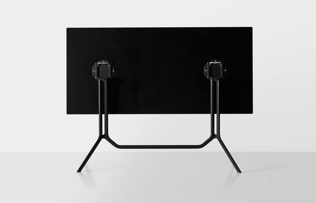 Poule rectangular, Folding bar table, in lightweight aluminum