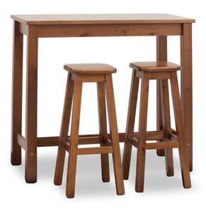 Rectangular Bar Table, High table for bars, rectangular, made of pine wood