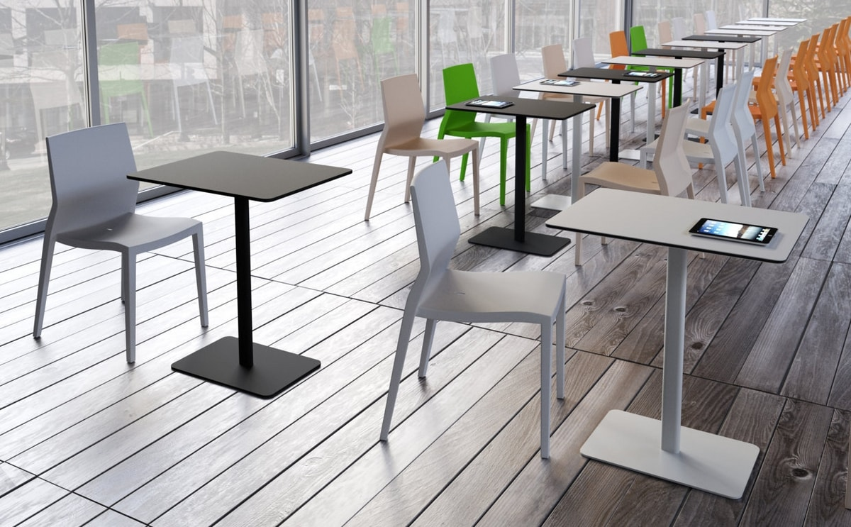 Sibì M, Squared table for bars, hotels and events