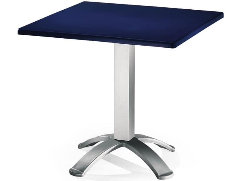 Table 80x80 cod. 23/BG4, Square table with polypropylene top