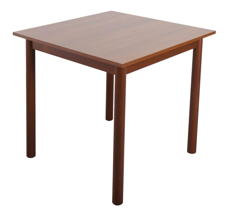 TB01, Bar table with beech base, laminate top