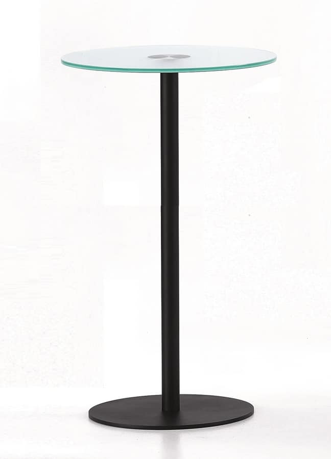 BASIC 858 C, High table in metal and glass, for bars and restaurants