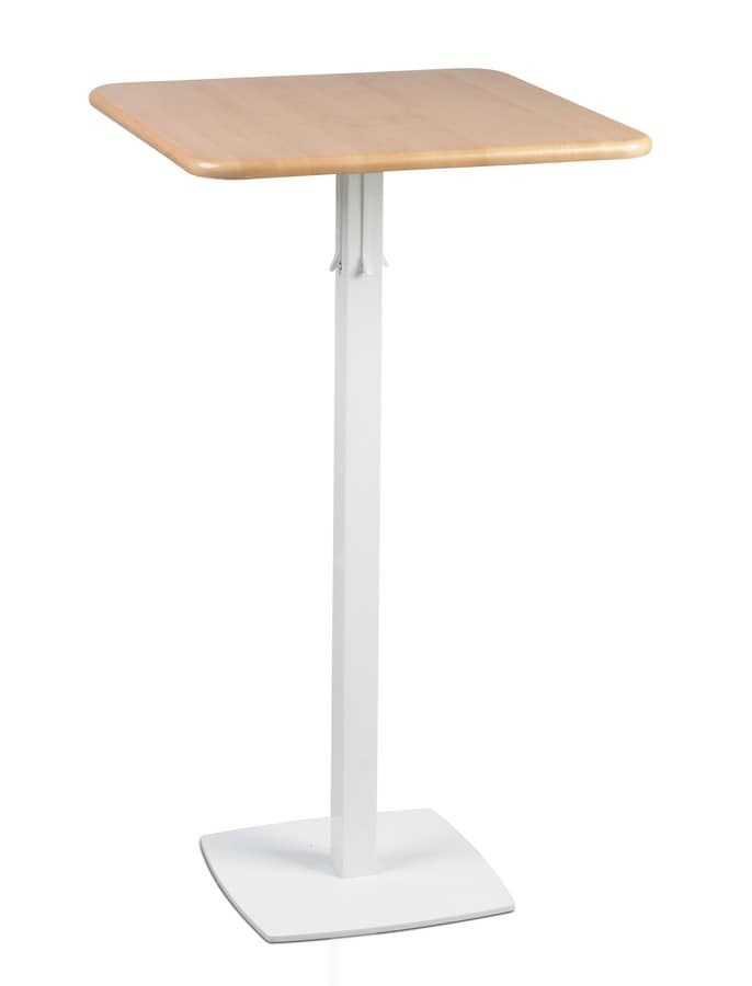 TOTEM 415, High table for hotels and bars, square metal base