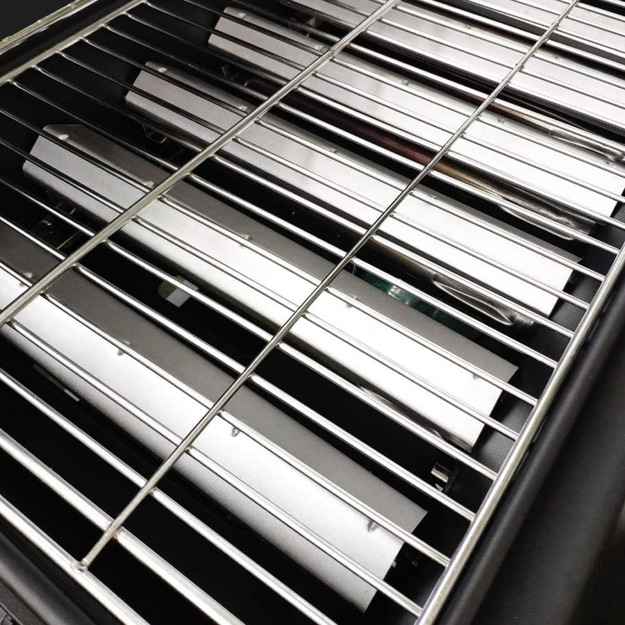 HOLSTEIN Stainless steel gas grill with 2+1 burners and grill - BB2083GEUN, Gas barbeque