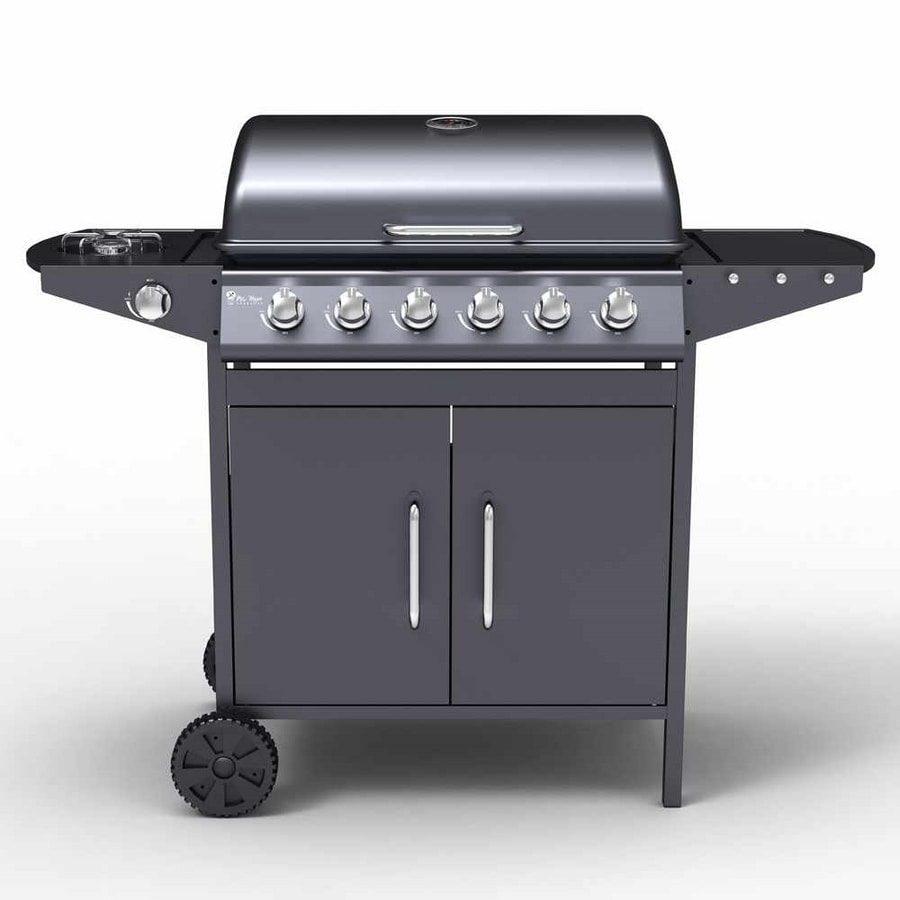 JERSEY stainless steel Gas grill BBQ 6+1 burners and barbecue Grill - BB2089GEUN, Portable BBQ