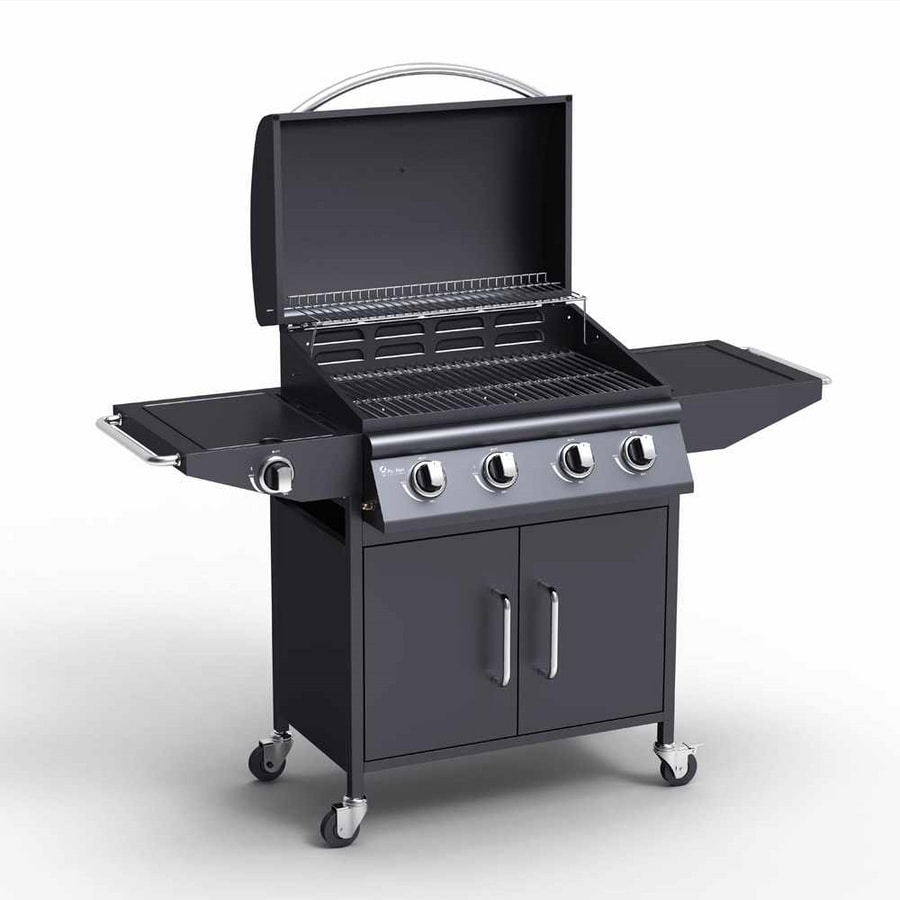 RED ANGUS stainless steel Gas grill BBQ 4+1 burners and barbecue grill - BB9204GEUN, Professional stainless steel barbecue