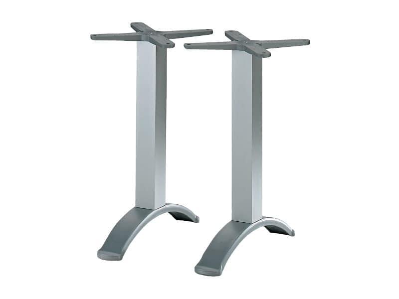 2 ped base cod. BG2J, Table base with aluminum twin-column