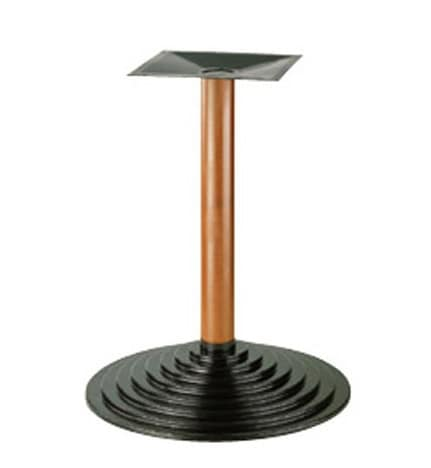 906, Metal base for table, beech column, for pubs