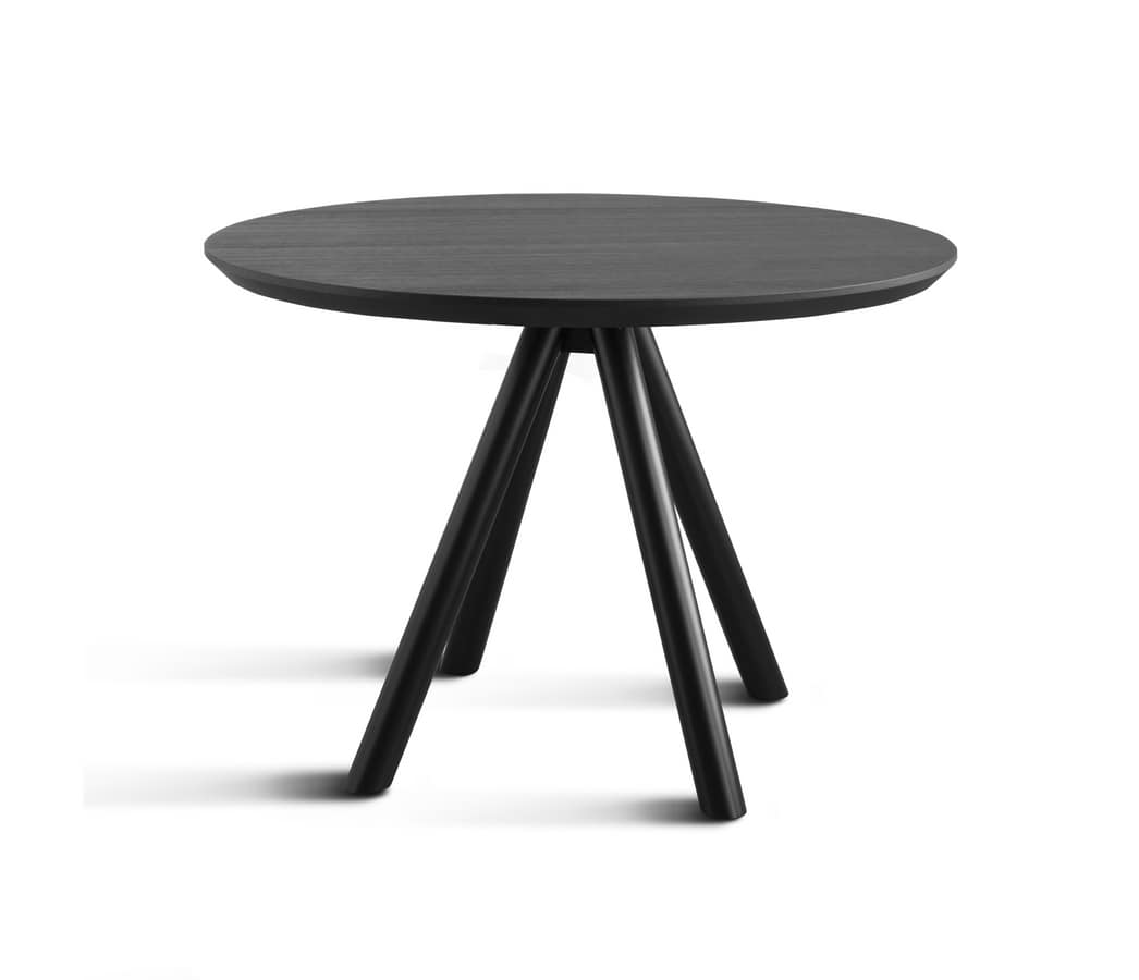 ART. 0098-4 AKY CONTRACT, Base for bar design table, wooden, with 4 legs