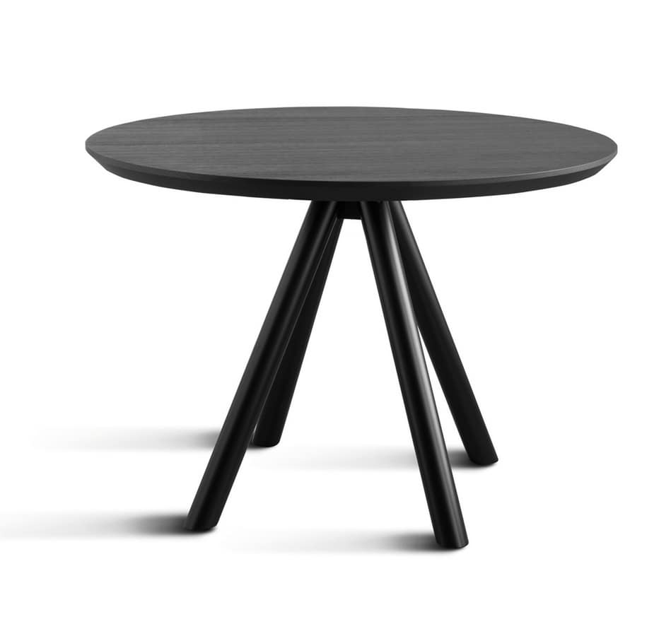 ART. 0098-4 CONTRACT, Four legs base for table, made of wood