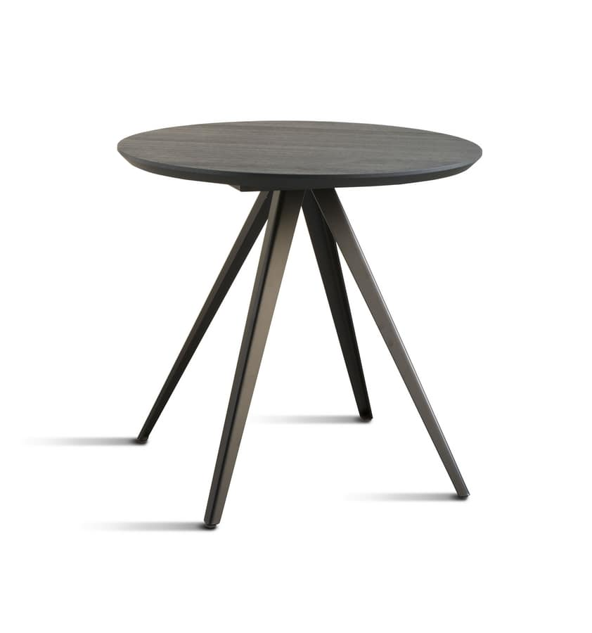 ART. 0099-4 AKY CONTRACT, Base for design coffee table, with 4 legs, in metal