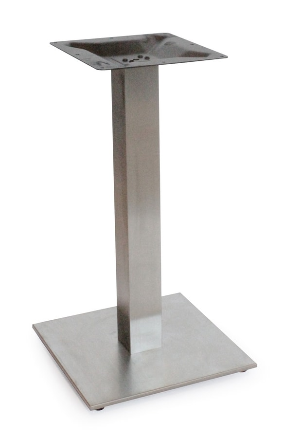 Art. 1037 Kuadra, Table base in satin or polished stainless steel