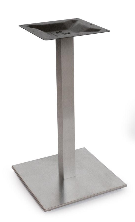 Art. 1038 Kuadretta, Satin stainless steel base, for bar and restaurant tables
