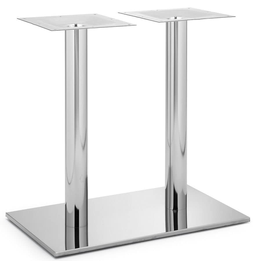 Art.257, Metal base for rectangular table suitable in different finishes