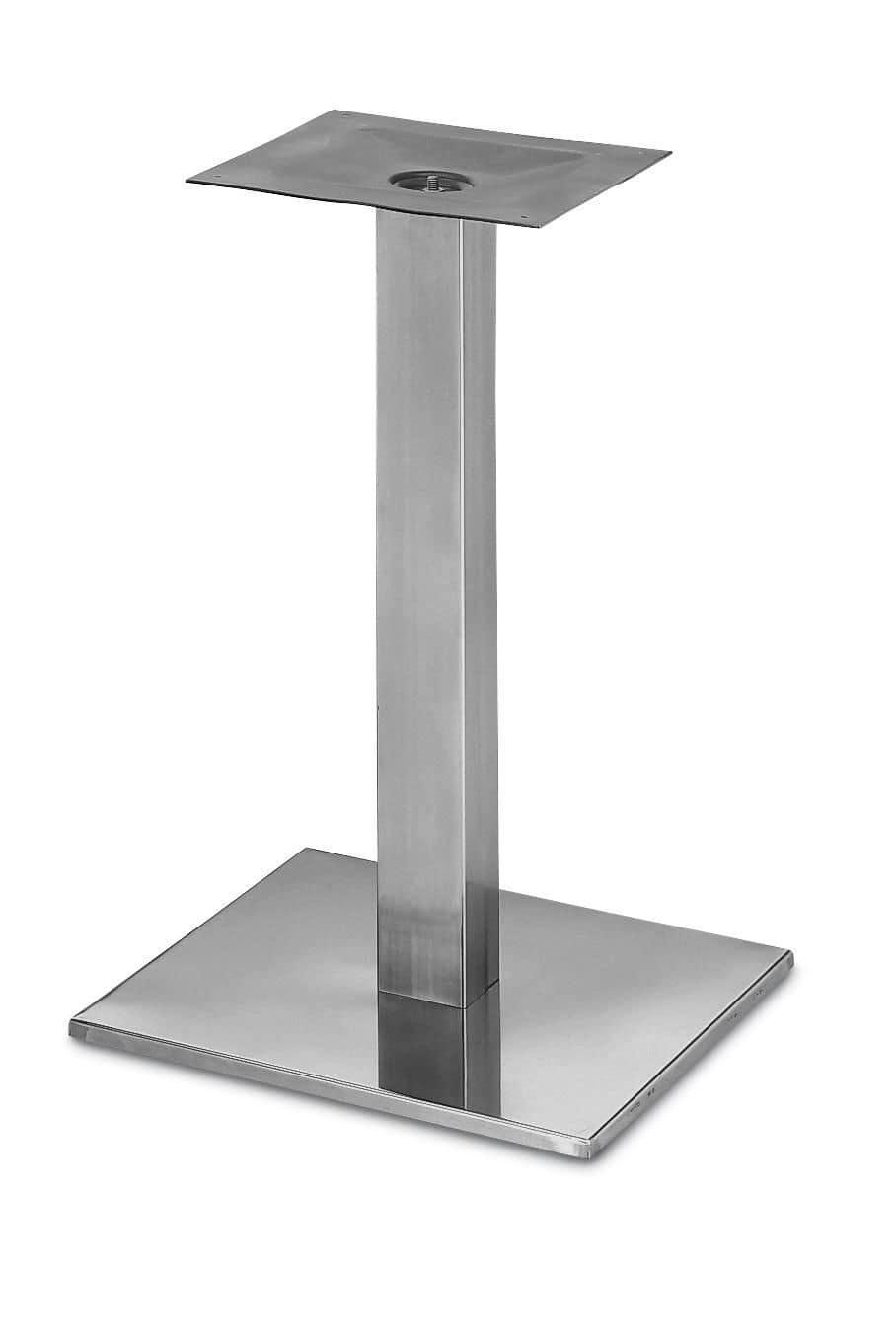 Art.260, Square table base, chromed metal frame, for bar and restaurants