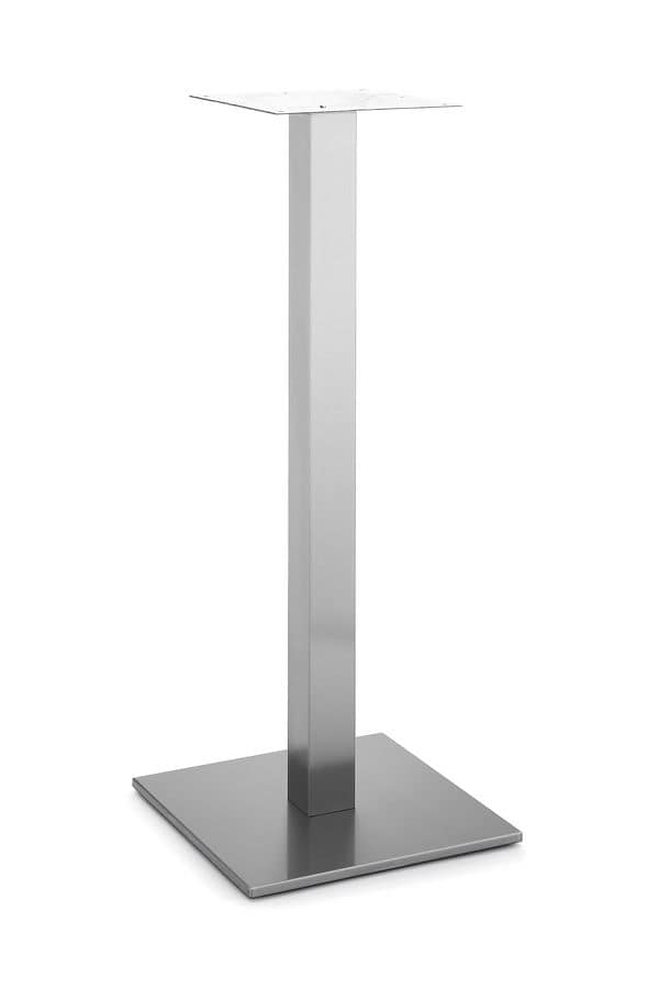 Art.260/H 1100, Square table base, metal frame with a central tube, for contract and domestic use