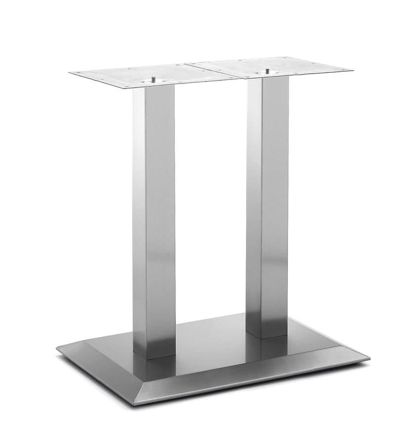 Art.281, Rectangular table base, brushed steel frame, for contract and domestic environment