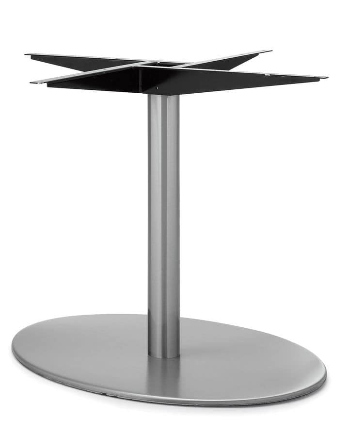Art.290/EL/4, Elliptical table base, metal frame, for contract and domestic use