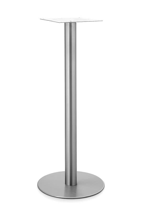 Art.290/H 1100, Round table base, metal frame, for contract and domestic use