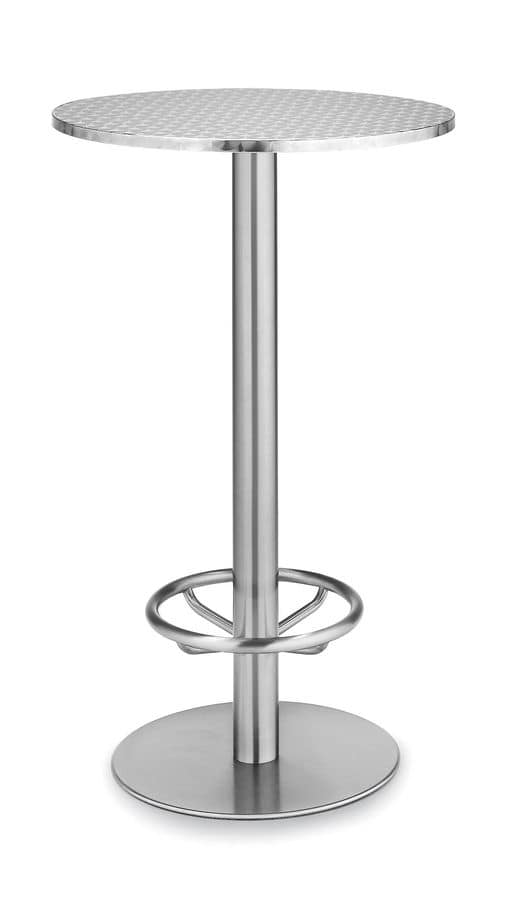 Art.290/Ring, Round table base, metal frame, for contract and domestic use